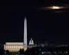 Harvest Moon over Washington DC (Insite Image) Tags: districtofcolumbia washingtondc lincolnmemorial washingtonmonument uscapitol nationalmall arlingtonva netherlandscarillon moon fullmoon harvestmoon nikon d750 tamron150600g2