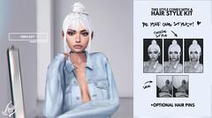 High Key @ Kustom9 Anniversary (liza.broono) Tags: sl second life foxy mesh hair high key mini bun catwa maitreya villena insol kustom kustom9 k9 anniversary