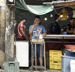 Butcher (Beegee49) Tags: butcher meat chicken cleaver trader street bacolod city philippines