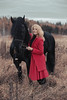 IMG_5080 (Katerina Dorohova) Tags: horse frieshorse blackhorse horses ladyinred photoshootwiththehorse autumn