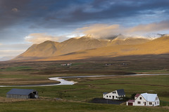 Between river and mountains (Sizun Eye) Tags: iceland north river mountains farms light landscape paysage sizuneye nikond750 tamron2470mmf28 snow