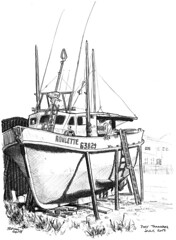 2017-07 Roulette (gnyp) Tags: roulette fishing boat new plymouth zealand port taranaki gnyp sketch drawing