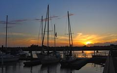 Marina Sunset 2 (ertolima) Tags: newbern northcarolina sailboats yachts boats blue landscape water river sunset