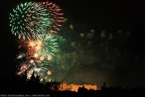 FR10 8360 Le 14 Juillet, la Fête Nationale Française. La Cité de Carcassonne, Aude, Languedoc