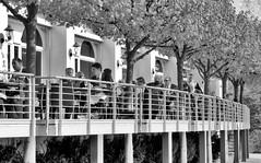 6595-2 Aussenterrasse / Aussengastronomie vom Hotel Hafen Hamburg an den St. Pauli Landungsbrücken. (christoph_bellin) Tags: hansestadt hamburg stadtteil sankt pauli bezirk mitte terrasse restaurant hotel hafen hafenhotel blick elbe landungsbrücken
