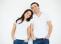 Caucasian couple (Patricia W.) Tags: people person lifestyle caucasian portrait girl guy male female couple boyfriend girlfriend valentine sweetheart darling love happiness bonding young adult together togetherness smiling positive handsome pretty lover family husband wife carefree romance romantic relationship relations pair date closeness serene committed devoted cute inlove looking toothy smiley standing isolation casual style