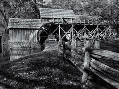 Mabry Mill (Tim Ravenscroft) Tags: mabrymill fence virginia hasselblad hasselbladx1d x1d monochrome blackandwhite blackwhite