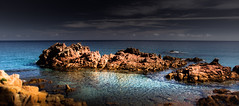 A Bay for your Mind (Beppe Rijs) Tags: sardinien landscape light nature sardegna sardinia italien italy sun sonne coast coastline mediterraneansea mittelmeer water bay blue orange mind play atmosphere rock myphoto