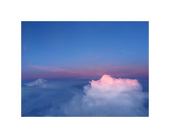 Cloudcover from plane (gavin.mccrory) Tags: plane fly cloud sky pink blue europe sunset landscape mountain