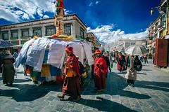 Pilgrims (Mathijs Buijs) Tags: pilgrims faithful buddha buddhist prayer flags holy jokhang temple tibet lhasa himalaya mountains asia canon eos 7d barkhor street monks