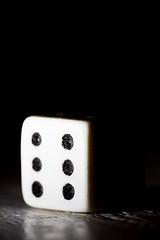 Dice (borealnz) Tags: dice 6 odds light macromondays sidelit macro dots game