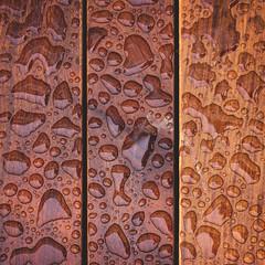 264 : 365 : VI {explore} (Randomographer) Tags: project365 rain wet droplet puddle wood board plank moisture water h2o pool lines panel 50mm 264 365 vi explore
