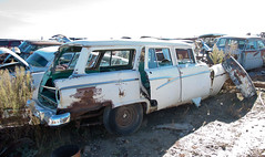1956 Ford Ranch Wagon (coconv) Tags: car cars vintage auto automobile vehicles vehicle autos photo photos photograph photographs automobiles antique picture pictures image images collectible old collectors classic blart salvage wrecked junk yard junkyard recycle dead abandoned scrap rust rusty rusting decay decaying 1956 ford ranch wagon 56 country sedan station white