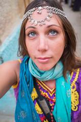 Rajasthan - Jaisalmer - Me wearing jewellry-2