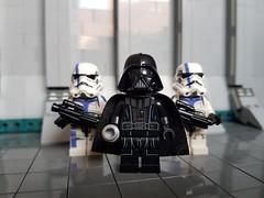 Vader and Bodyguards (影Shadow98) Tags: lego star wars stormtrooper commander vader darth