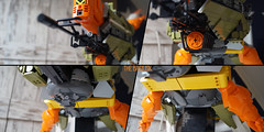 SHIPtember 2017: The Basilisk > Belly (Brixnspace) Tags: shiptember ship basilisk spaceship space olive orange lego moc belly turret torpedolauncher sensor
