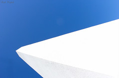 Alternate perspective (WinRuWorld) Tags: blue white geometry minimalist minimalism simple lines sky obelisk newcastle nsw newsouthwales australia perspective composition minimum canon efs1855mmf3556isii oblique onblue alternateperspective uncomplicated abstract canonphotography