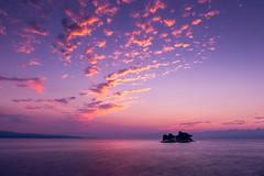 sunset 8207 (junjiaoyama) Tags: japan sunset sky light cloud weather landscape pink purple contrast colour bright lake island water nature fall autumn