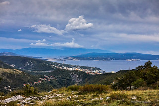 Pogled s Velog Vrha iznad Rijeke prema jugoistoku