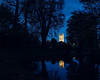 oxford-1-061117 (Snowpetrel Photography) Tags: christchurchmeadow magdalencollege olympusem1 olympusm17mmf18 oxford autumn bluehour churcharchitecture churchtowers nightphotography reflections silhouettes towers water england unitedkingdom