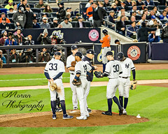 Robertson gets the ball from Girardi (EASY GOER) Tags: yankees newyorkyankees astr