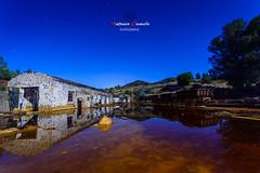 Rio Tinto, Huelva. (Antonio Camelo) Tags: nikon nature naturaleza night noche roca rio river tinto espejo reflections reflejos tren train mina