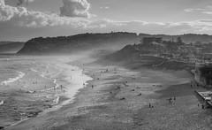 Beach ants (OzzRod) Tags: pentax k5iis industar61lzmc50mmf28 индустар61лз monochrome blackandwhite beach sea seascape coast waves surf spray haze swimmers beachgoers recreation barbeach newcastle