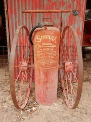 Chemical Fire Extinguisher (mikecogh) Tags: tailembend oldtailemtown heritage museum pioneervillage cart trolley fireextinguisher chemical tank 30