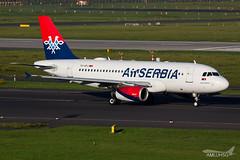 Air Serbia - A319 - YU-APJ (1) (amluhfivegolf) Tags: eddl düsseldorfairport dus flughafendüsseldorf amluh5g amluhfivegolf avgeek aviation plane