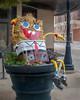 Haybob Bucketpants (David DeCamp) Tags: urban cartoon famous flowerpot