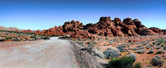 Valley of Fire State Park.Nevada (Bernard Spragg) Tags: valleyoffirestateparknevada usa landscape lumix fz1000 redrocks america travels bridge camera panorama scenery vista view road scenic clarkcounty nv greatshot