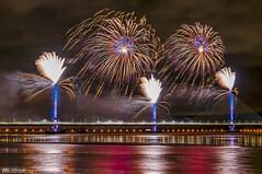 Mersey Gateway Bridge Fireworks 2 (Bob Edwards Photography - Picture Liverpool) Tags: 2017 bridge cheshire crossing gateway halton mersey merseyflow october13th river runcorn transport vehicles widnes