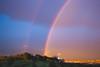 2 arcoiris (Victor Miralles) Tags: arcoiris rainbow rain madrid parquetiernogalvan colores colors sunset atardeceres