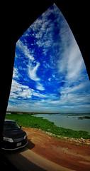 My Window to Heaven! (Sakib Mridha) Tags: lgg5 lg mobiledevice mobilephotography mobileedit gimp sky cloud cloudysky whitecloud blue white nephophilia nephophile green road river riverbank bus phonography photographersofbangladesh photography photo dhaka bangladesh beautifulbangladesh