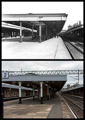 Nuneaton station, Nuneaton (Tetramesh) Tags: tetramesh nuneaton warwickshire england britain greatbritain gb unitedkingdom uk nuneatonandbedworth localhistory nowandthen thenandnow pastandpresent oldnuneaton lostnuneaton presentandpast nuneatonpastandpresent nuneatonnowandthen nuneatonthenandnow nuneatonpast socialhistory uklocalhistory nuneatonlocalhistory nuneatonstation station railwaystation bondstreet cv11 cv114bu londonandnorthwesternrailway trentvalleyline westcoastmainline birminghamleicesterpeterboroughline coventrytonuneatonline nuneatontrentvalley nuneatontrentvalleystation britishrail britishrailways ashbyandnuneatonjointrailway railtrack networkrail londonmidland crosscountry virgintrains johnwilliamlivock reginaldwynnowen centraltrains londonmidlandandscottishrailway 15thseptember railwaysact1921 groupingact