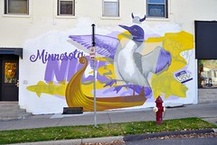 Minnesota Nice (jpellgen (@1179_jp)) Tags: 10thfloor art rockmartinez cyfione streetart publicart graffiti uptown mpls mn minneapolis minnesota usa america midwest 2017 fall autumn october sigma 1770mm nikon d7000 sencha 2601hennepin teagarden office loon longboat ship boat helmet fish