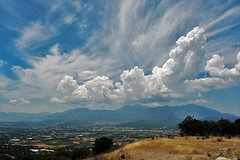 clouds (Kirlikedi) Tags: blue cloud cloudclusters cloudshapes clouds deep fly marks mountains plain sky view
