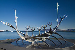 Sun Voyager (^Diana^) Tags: 1736a viking reykjavik iceland sea island nordic boat sunvoyager sculpture ship sail dream