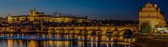 Prague Classic Panorama (martintimmann) Tags: sonya7r2 e bridge reflection city loxia2485 panorama longexposure lights availablelight night zeiss castle cityscape architecture water sunstar carlzeiss