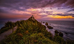 The Color Of Horizons (Anna Kwa) Tags: nuggetpointlighthouse thecatlins thenuggets rockyislets otago southisland newzealand annakwa nikon d750afszoomnikko1424mmf28 my colors emotions always horizons solitude desire seeing heart soul throughmylens ocean sea sunset storm rain grass sky landscape far omm distance speaktome amylee