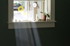 Smoky Sun Rays (brucetopher) Tags: window sunlight sunshine ray rays light pane sill windowsill collection shells decoration sun runray rayofsunshine warm cozy warmth smoke smoky smokey