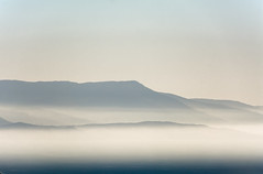 fog on the sea.. (ckollias) Tags: beautyinnature clearsky day fog foggy foggyday foggylandscape foggymorning hazy idyllic mountain mountainrange nature nopeople outdoors scenics sea sky tranquilscene tranquility water island
