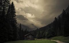 One reason why I love the Mountains (Netsrak) Tags: europa europe kleinwalsertal gebirge wolke wolken hütte österreich at natur pfad weg bäume