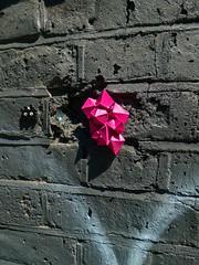 Space Invaders Vs Asteroids (Steve Taylor (Photography)) Tags: spaceinvaders asteroids art graffiti streetart black pink uk gb england greatbritain unitedkingdom london shape diamond crystal