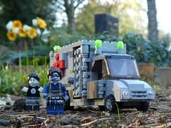 Zombulance (1/3) (captain_joe) Tags: toy spielzeug 365toyproject lego minifigure minifig moc car auto krankenwagen ambulance zombie cemetary friedhof cemetery