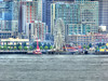 Seattle Great Wheel (CORDAN) Tags: washingtonstateferry wsf seattleskyline seattle harbor panasonicdmcfz150 hdr seattlegreatwheel