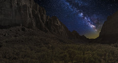 Zion Valley (Color Blind 56) Tags: zion zionnationalpark elements13 rock utah overlook landscape d7100 stars longexposure galaxy cb1956 viewpoint nikon nightscape nightsky night mountains milkyway nightlandscape starscape
