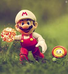 Fire Mario (Jezbags) Tags: bandai tamashii nations sh figuarts super mario figure fire supermario fireball flower grass macro macrophotography macrodreams macrolego canon60d canon 60d 100mm closeup upclose nintendo odyssey