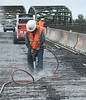 Removing old cracked concrete from the SR 432 Harry E. Morgan Bridge (WSDOT) Tags: kelso longview wsdot crackedconcrete sr432harryemorganbridge bridge repair hamilton construction company deck overlay expansion join hydro demolition