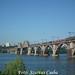 UZ VL8-1269 kel át a Dnyeper folyó hídján tehervonatával Dnipropetrovskban 2016.07.11-én.